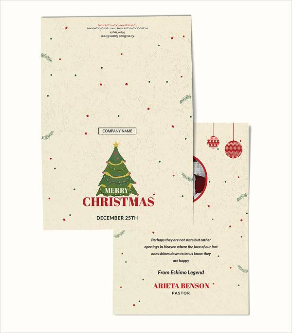 Christmas Thank You Cards 29 Download Documents In Psd Vector