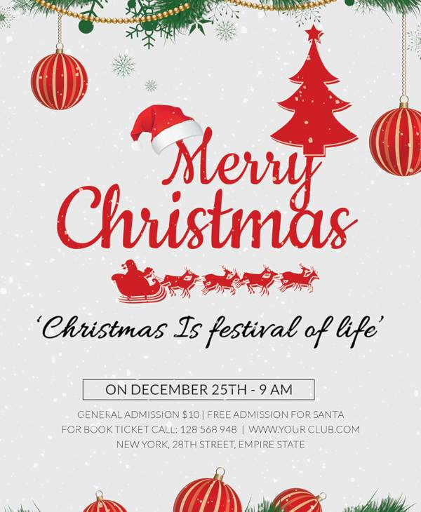 free christmas holiday flyer template1