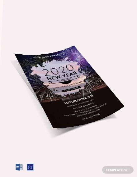 free new year party flyer