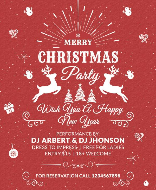 free vintage christmas flyer template