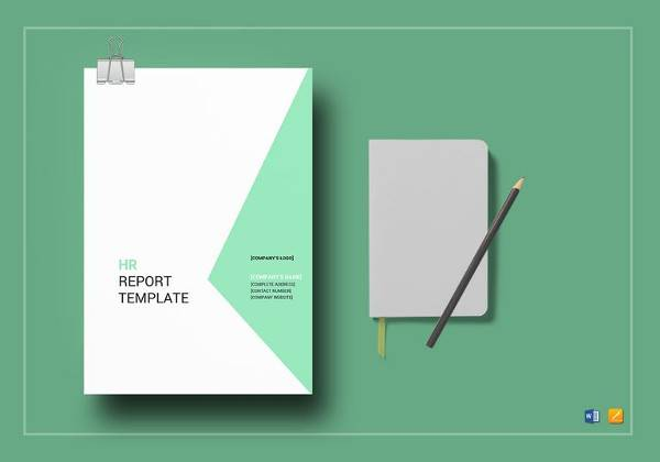 hr report template in word format