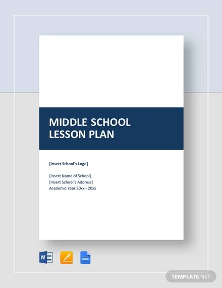 sample middle school lesson plan
