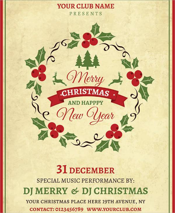 imple christmas flyer template