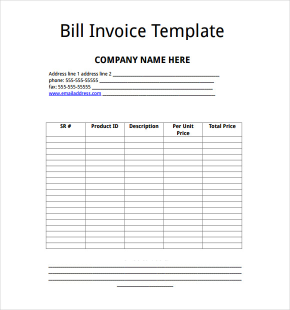 Sample Microsoft Invoice Template Download Free Documents In - Microsoft invoice templates