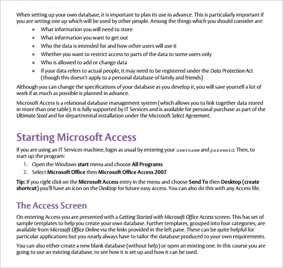 7 microsoft access templates download free documents in for Ms access 2007 templates