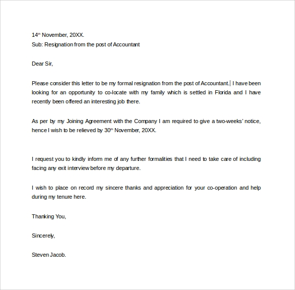 Free 13  Two Weeks Notice Letter Templates In Google Docs