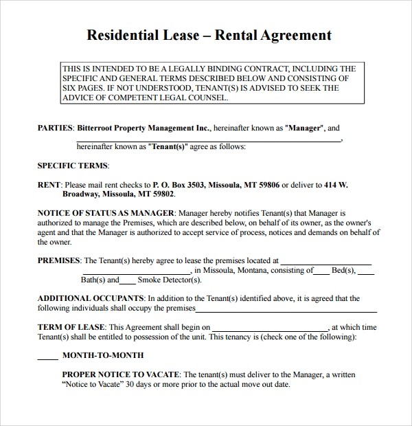 Simple Rental Agreement 10 Download Free Documents In PDF Word – Simple Rental Agreement Example