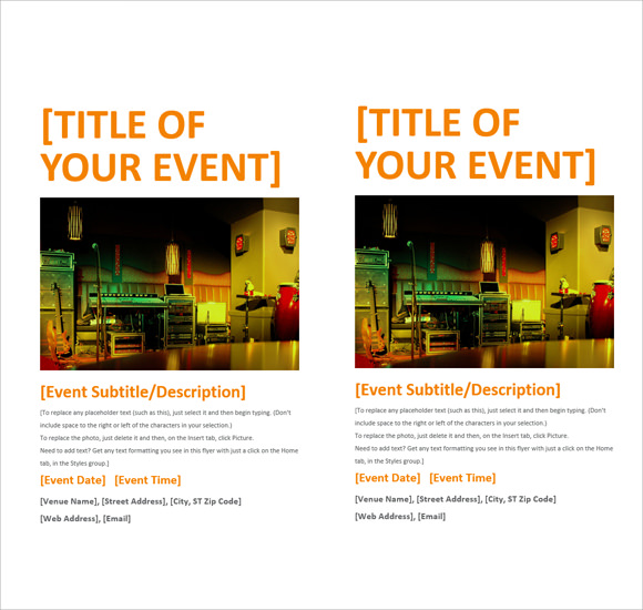 Flyer Template Microsoft Word 2010  Free Microsoft Word Flyer Templates