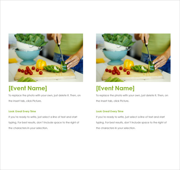 microsoft event flyer template