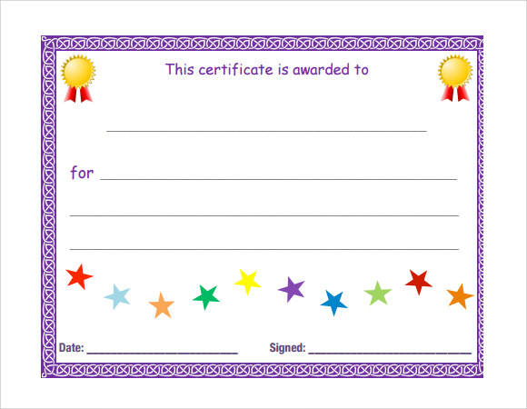 Microsoft Blank Certificate Template  Award Certificate Template For Word