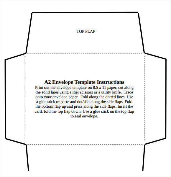 business envelope template word .