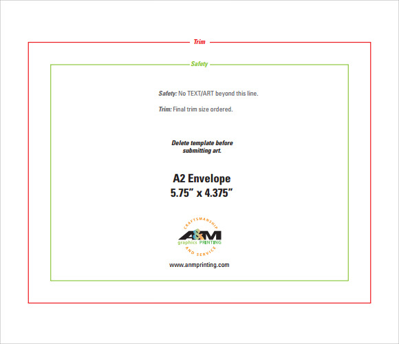 Sample A2 Envelope Template - 7+ Documents in Word, PDF