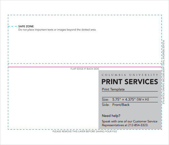 Sample A Envelope Template   Documents In Word Pdf
