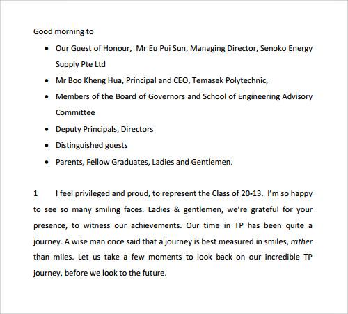 grade 8 graduation speech outline nots choice cf