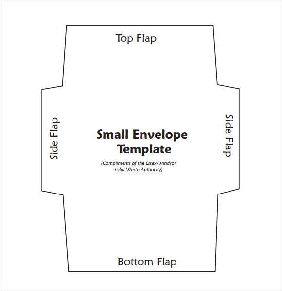 Sample Small Envelope Template   Free Documents In Pdf  Word
