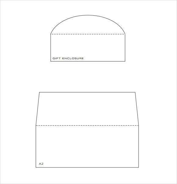 paper source envelope liner template