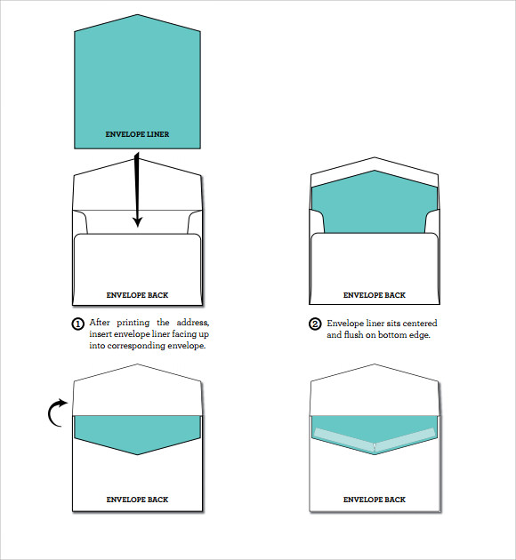 a7 square flap envelope liner template. Black Bedroom Furniture Sets. Home Design Ideas