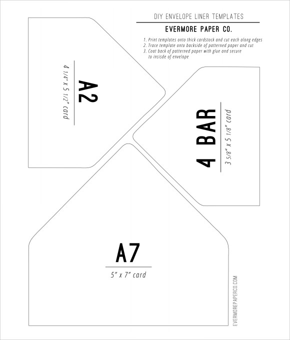 diy envelope liners template
