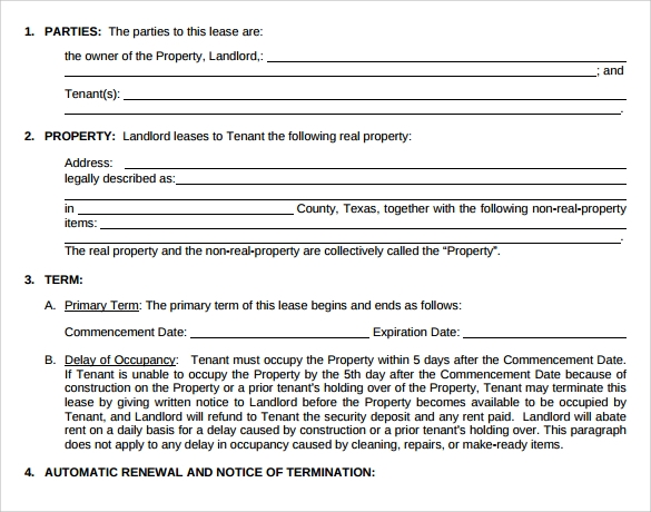 Sample Lease Termination Letter To Tenant: Month To Month Lease Agreement