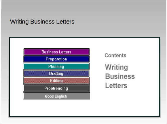 writing business letters powerpoint Letter writing letter writing to decline a job offer examples of non job search letters in business purposes: to present a sales proposal to a customer.