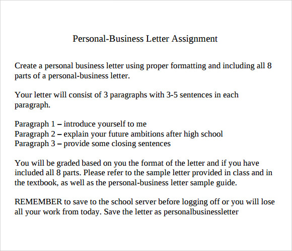 Sample Personal Business Letter 9 Documents In Pdf Word