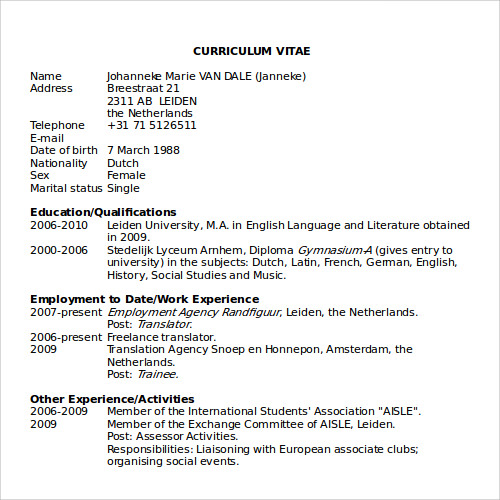 Microsoft Free Resume Templates | Resume Format Download Pdf