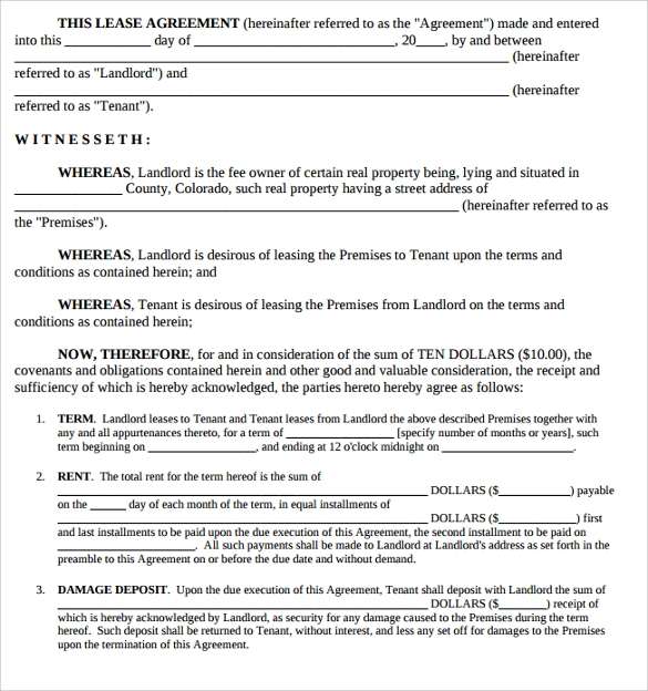 Doc407527 House Lease Agreement Format Free Notarized – Sample House Lease Agreement Example