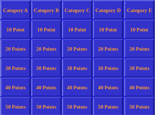 25 microsoft word templates sample templates for Microsoft powerpoint jeopardy game template