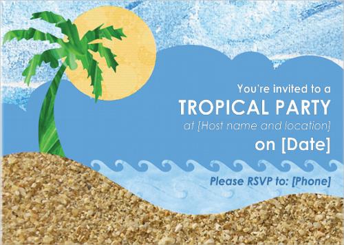 microsoft party invitation template