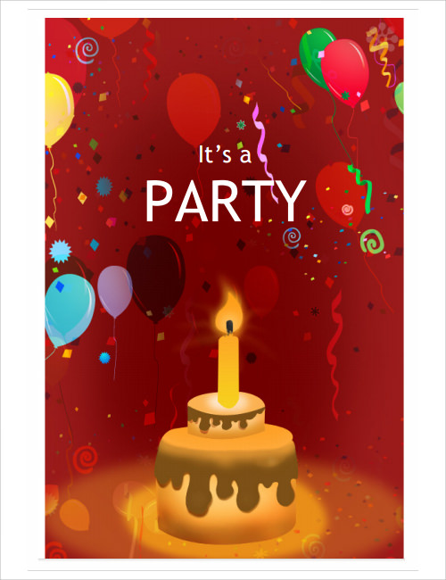 birthday party invitation templates word .