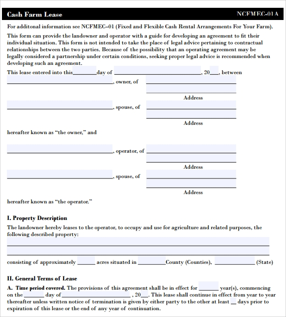 Pasture Lease Agreement Template   Download Free Documents In