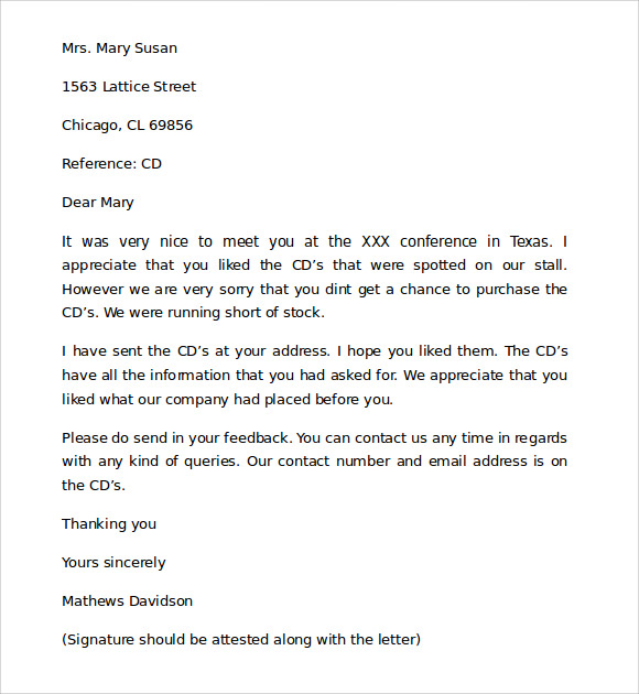 Professional Business Letter - 9+ Download Free Documents in Word ...