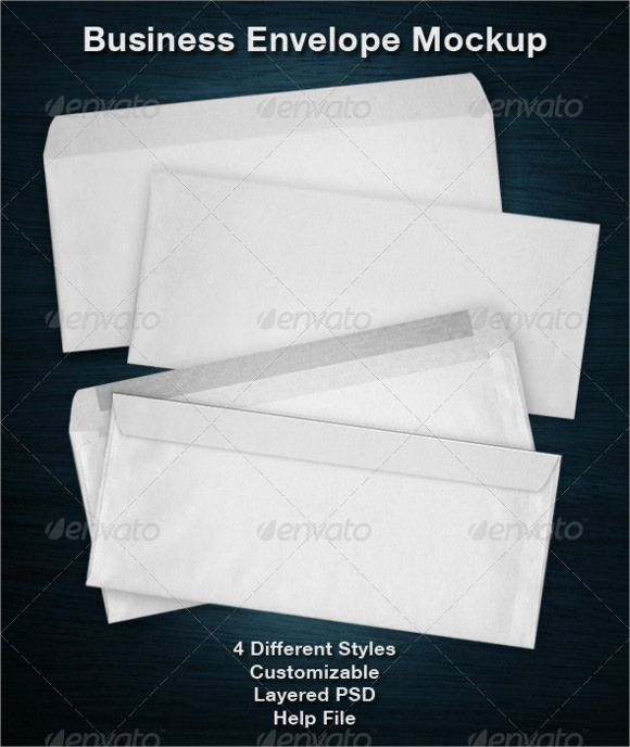 business envelope template indesign