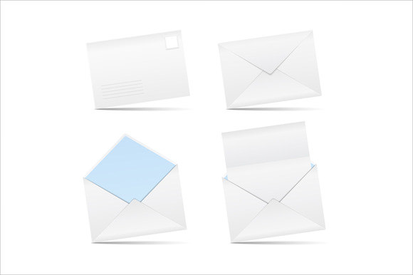 blank business envelope template