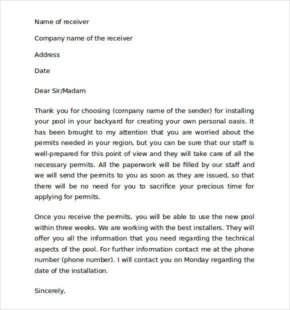 Sample Thank You For Your Business Letter   Documents In  Word
