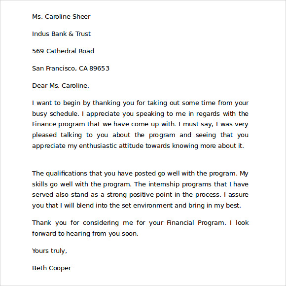 Thank You For Your Business Letter 9 Download Free