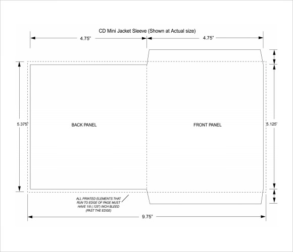 10 compact cd envelope templates to download sample for Cd sleeve printing template