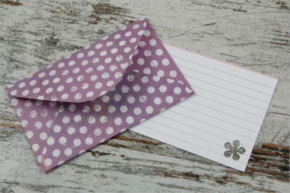 handmade giftcard envelope template