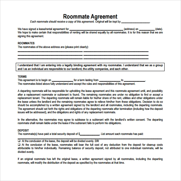 Sample Room Lease Agreement Template - 15 + Free Documents In Pdf