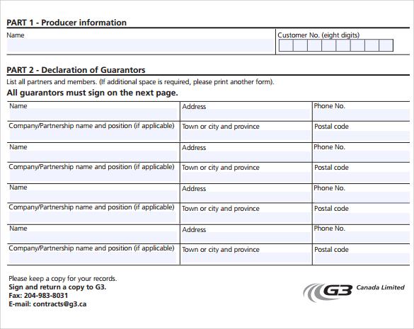 download personal guarantee form1