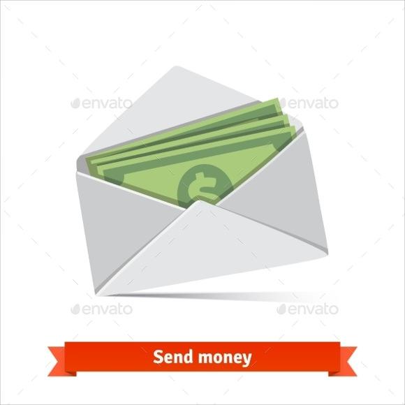 money envelope template vector