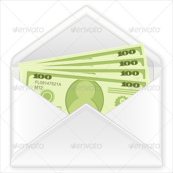 Sample Money Envelope Template   Documents In Pdf  Psd