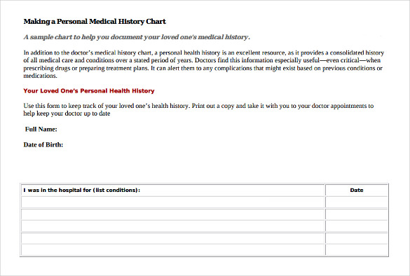 Medical History Form 7 Download Free Documents In PDF Word – Sample Medical History Form