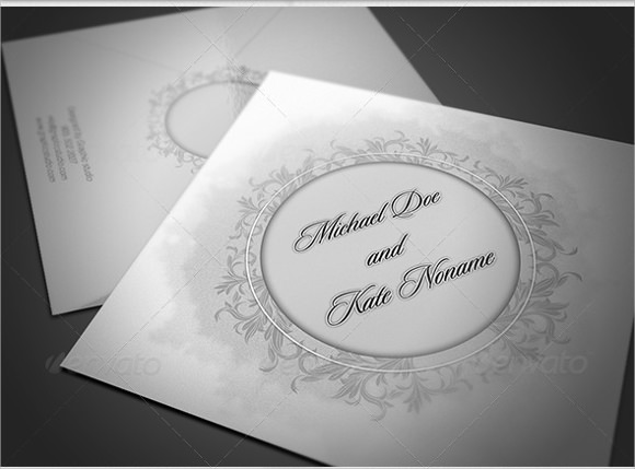 Wedding Invitation Envelope Template