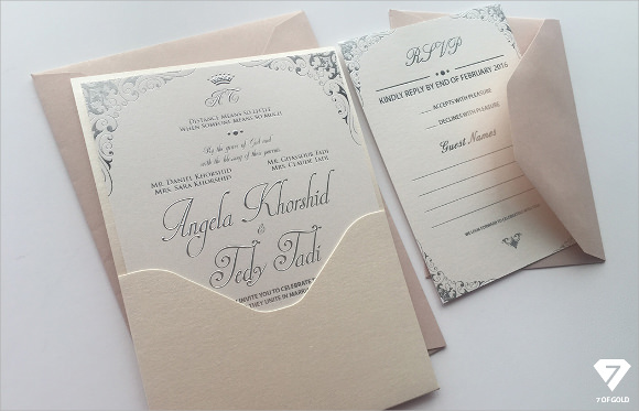 Silver Wedding Card Envelope