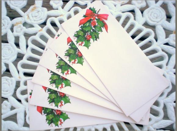 vintage christmas letter envelopes