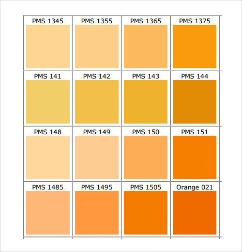 Sample Color Chart Template   Free Documents In Pdf Word