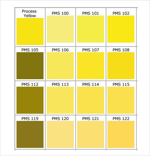Charmant Pantone Colors Chart Pdf