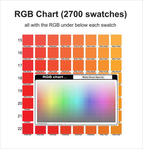 rgb color chart pdf
