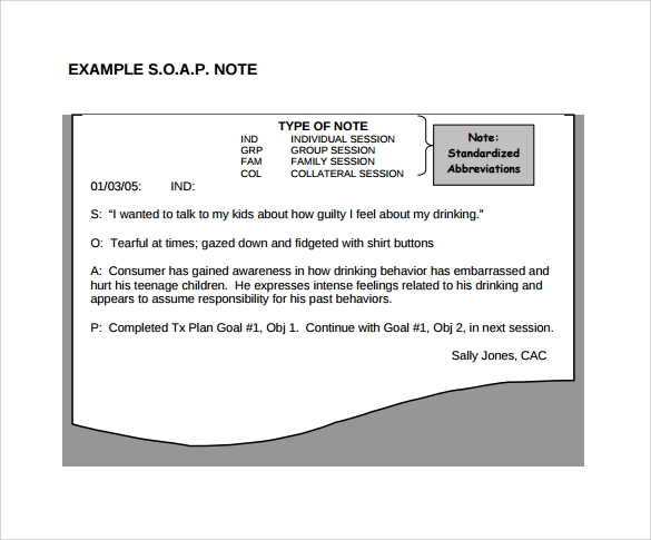 8  sample subjective objective assessment planning notes